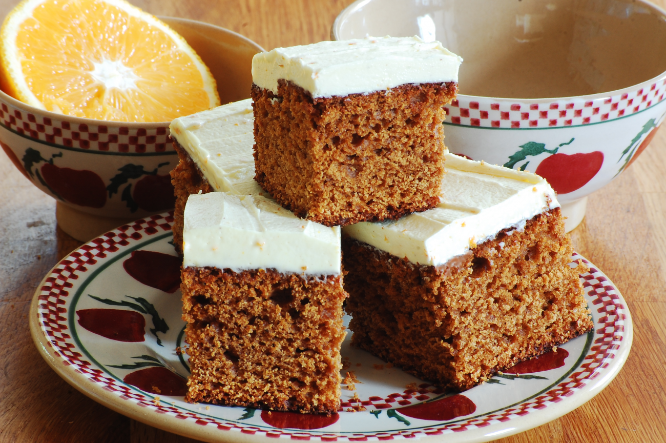 Everyday Gingerbread with Orange-Ginger Icing
