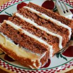 "Chocolate Potato Cake with ""Irish Potato Candy"" Frosting"