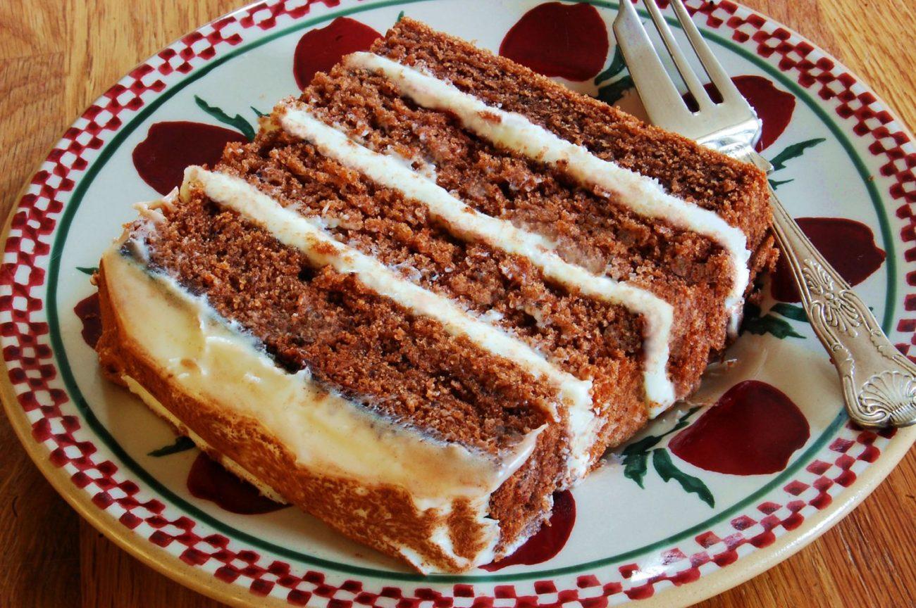 "Chocolate Potato Cake with ""Irish Potato Candy"" Frosting"