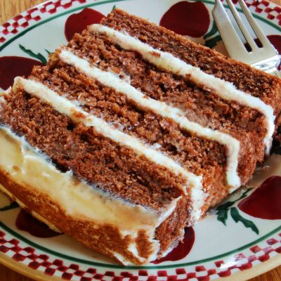 "Chocolate Potato Cake with ""Irish Potato Candy"" Icing"